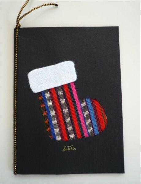 画像1: グアグアタルヘタ〜クリスマスカード 黒 (1)