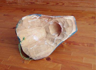 画像2: グアテマラ木彫り★青犬