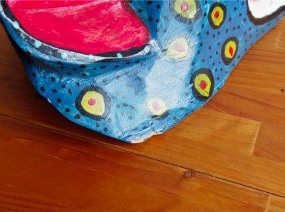 画像3: グアテマラ木彫り★青犬