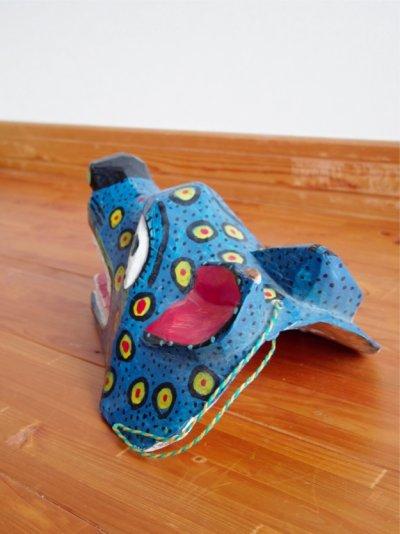 画像1: グアテマラ木彫り★青犬