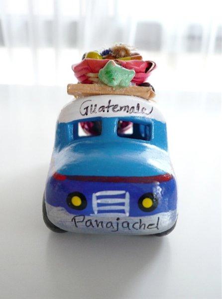 画像1: グアテマラ☆バス《ブルー》小 (1)